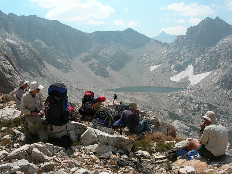 Lion Lake Pass: view to Cub Lake