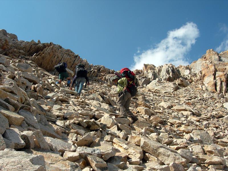 Up to Lion Lake Pass