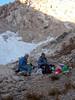 Camp below Lion Lake Pass