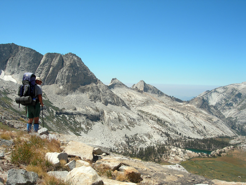 On the edge--descending to Tamarack Lake
