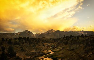 Hot Creek Sunset