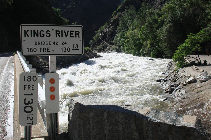 Near Boyden Cavern on Highway 180, Kings Canyon, CA. The river was at a 20-year high.