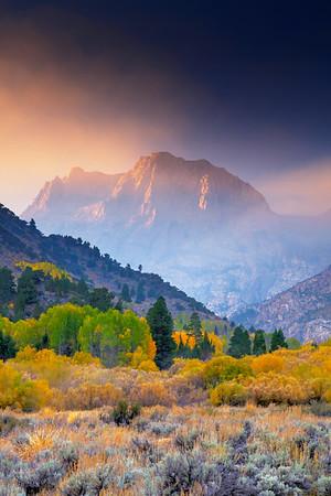 Smokey Sunrise & Fall Foliage - Silver Lake