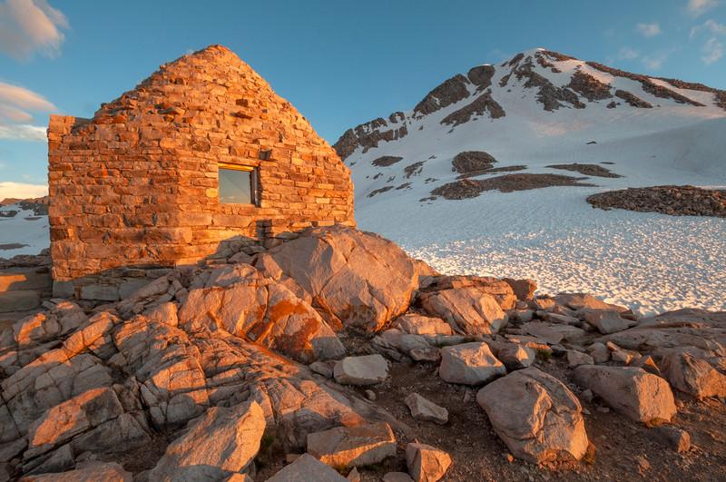 Muir Hut at sunset