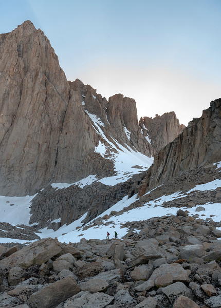 Hikers Approaching Ice Berg Lake - Mt. Whitney