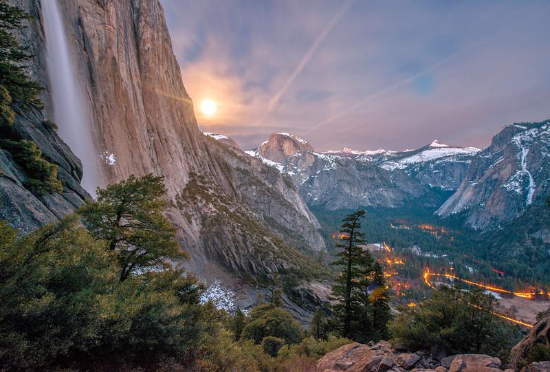 Yosemite Valley & a Full Moon