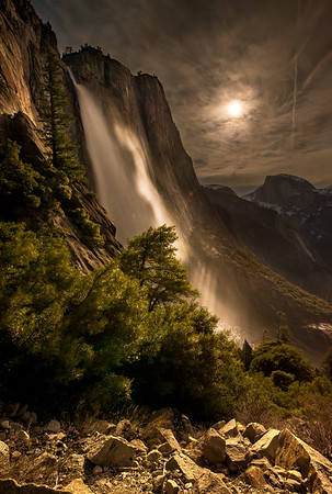 Moonlit Yosemite Falls
