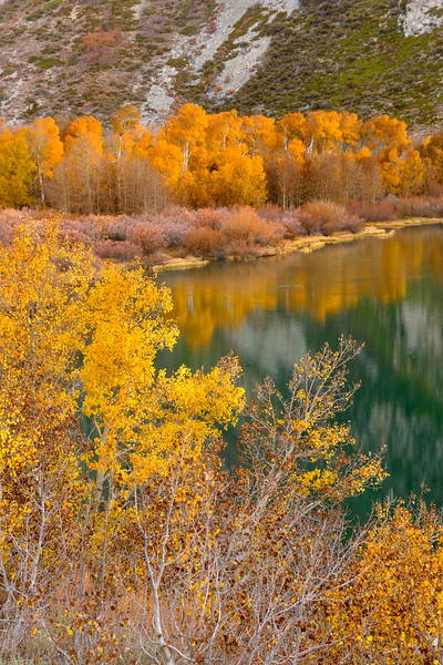 Fall foliage along the shores of Parker Lake in late September.