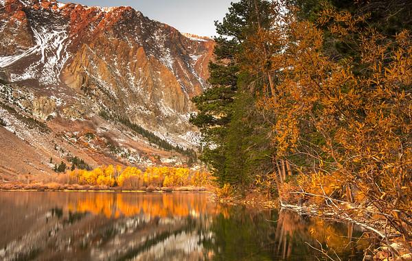 Sunrise at Parker Lake in late September.