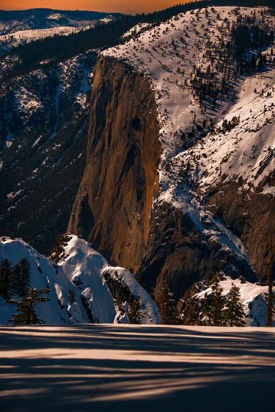 Moonlit El Capitan from Glacier Point.