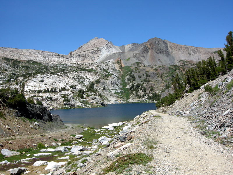 Steelhead Lake. This area isn't called '20 Lakes Basin' for nothing - it's lake after beautiful lake.