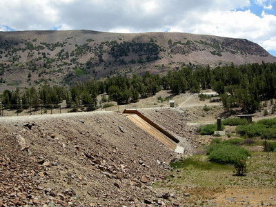 Dam at Saddlebag Lake