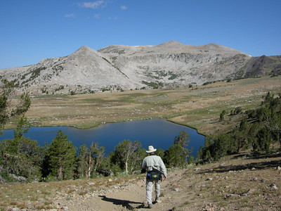 David heads towards Gaylor Lake