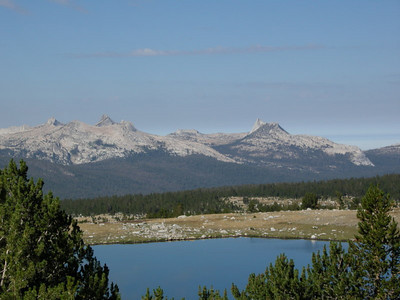 Cathedral Range beyond Gaylor Lake