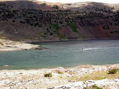 Cheaters! Saddlebag Resort has a boat shuttle - it cuts about 3 miles off the round trip loop hike
