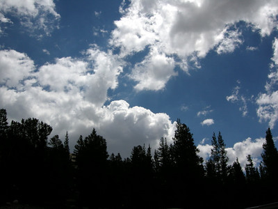 On Saturday we hiked the 20 Lakes Basin - and hoped the clouds wouldn't build.