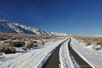 The campground was open, you could drive to the sites but they were snowcovered.
