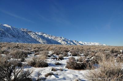 Looking north along the eastern Sierra.
