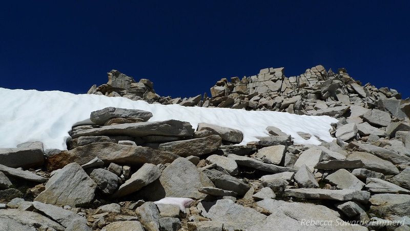 No problem - easy to avoid by hopping through the talus on the right.