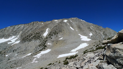 And Arrow Peak. Take the chute straight to the summit.