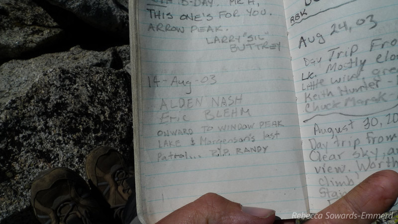 "Found in the summit register. (If you haven't read ""The Last Season"" please do - this will make more sense). I was annoyed to find a page missing from the register - a page that (based on the time stamp of the pages before and after it) could have had ranger Randy Morgenson's signature."