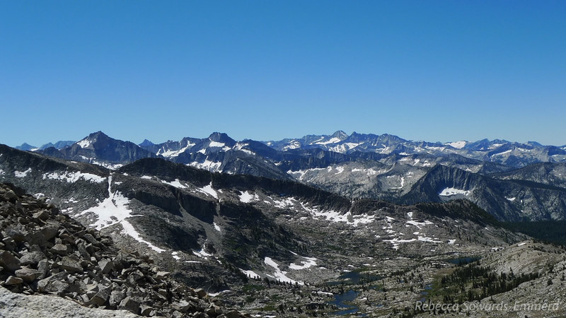 View to the southwest from Arrow Pass