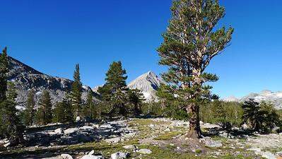 Arrow peak from our campsite