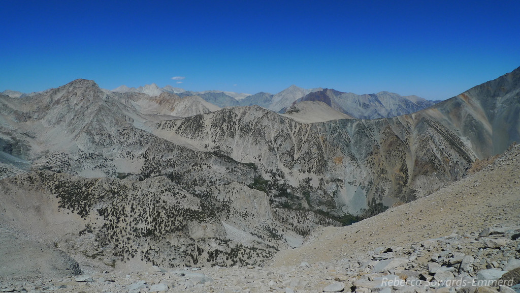 Bear Creek Spire, Mt Morgan, and other peaks to the north.