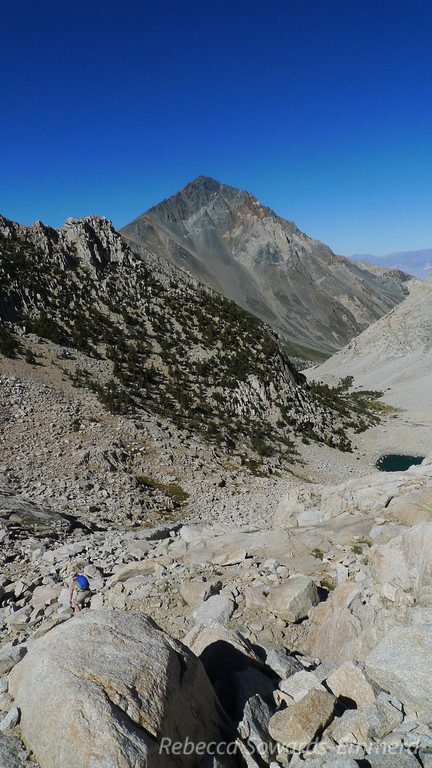 Between the two lakes (the lower lake visible). And Mt Tom - we're coming for you tomorrow!