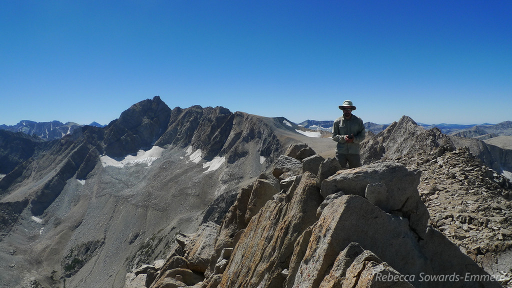 David on the summit with Mt Humphreys