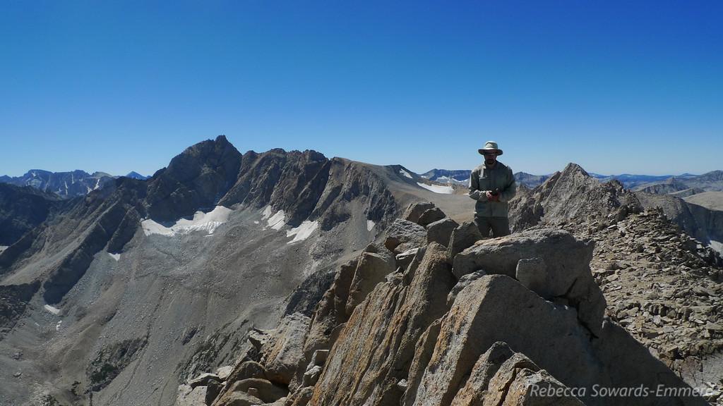 David on the summit with Mt Humphreys