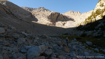 Just below the first small lake.