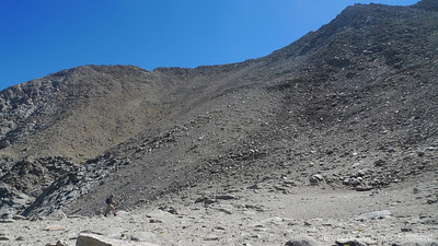 That is about 1800 ft of slope to climb. The summit is the bump to the right of center.