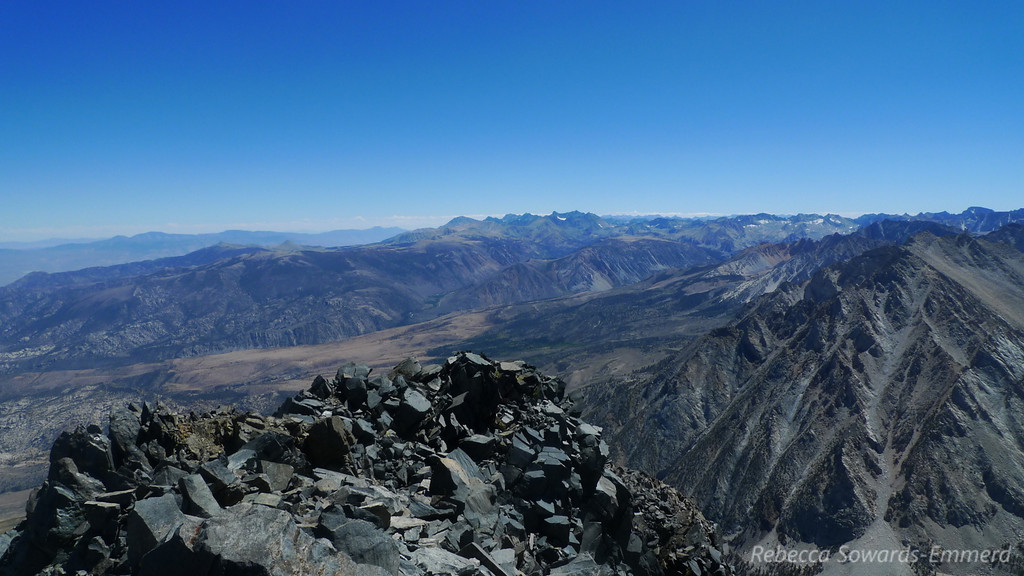 View to the south and the palisade range.