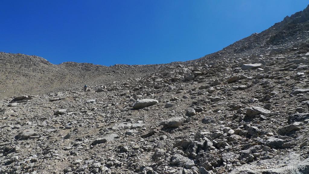 Up towards the north ridge.