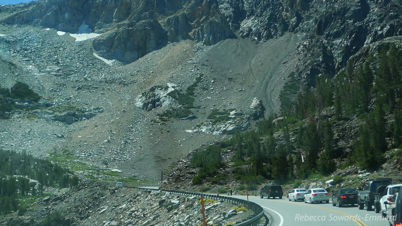 Driving back over Tioga Pass we watched a helicopter drop construction supplies. Crazy!