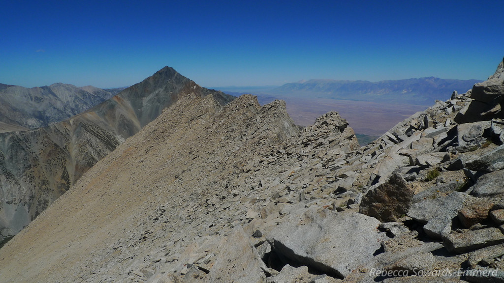 The north ridge was really neat, seeing all the 'teeth' from above.