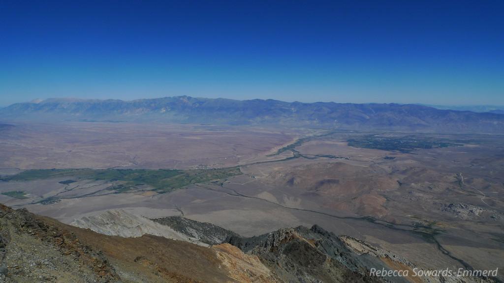 Bishop and the volcanic tablelands below.