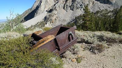 An old ore cart (?) at the turnoff to Horton Lake.
