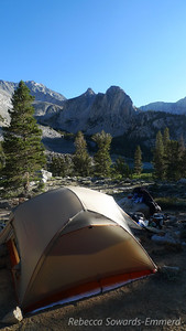 This is our second season with the Big Agnes Copper Spur 3 tent - a palace compared to our old tarptent. Also, 2 lbs heavier, but worth it.