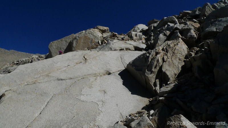 Slabby bedrock on this slope - nicer than loose talus.