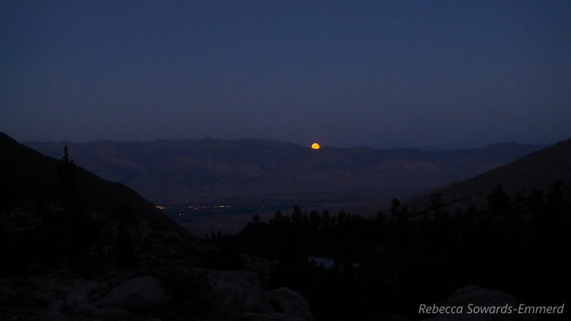 Moonrise over Bishop.
