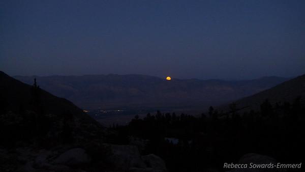 Moonrise over Bishop.