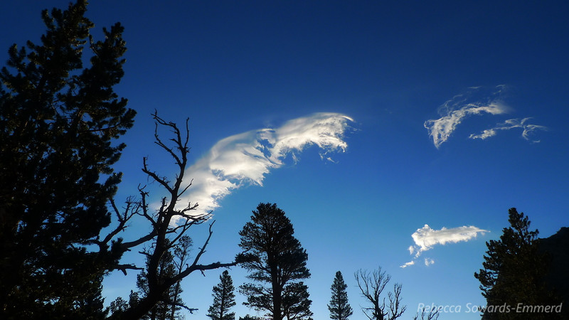 Tuesday morning before our hike out - interesting clouds.