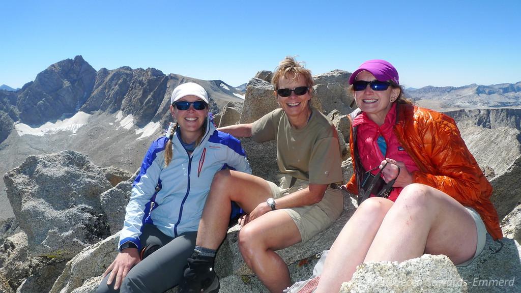 Me, Robin, and Pavla on the summit. Woohoo!
