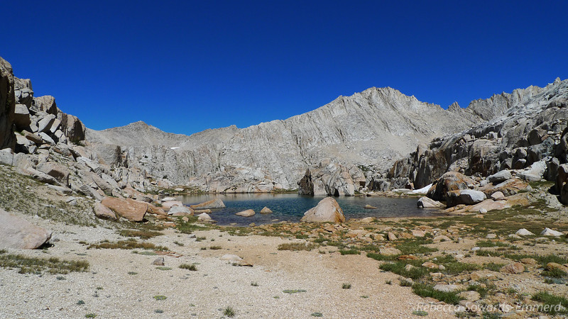 Really pretty little turquoise lake at the top of the pass.