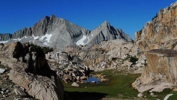 Our view of Seven Gables in the morning is spectacular. We decide to spend a day wandering through bear lakes basin to scout our route up Seven Gables, relax, and spend another day acclimating.