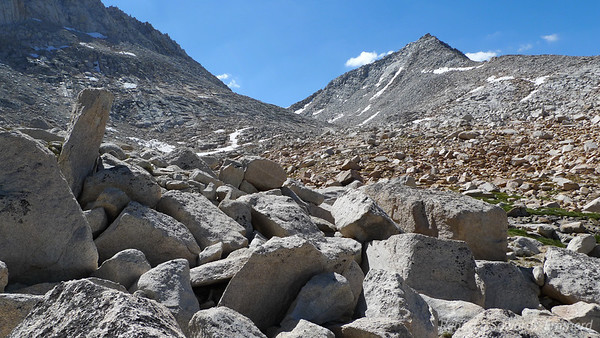 A little bit of talus hopping but if you follow the path of the green it isn't too bad at all.