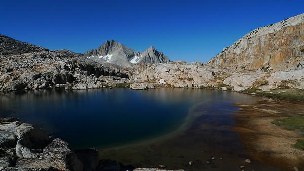 View from camp at Big Bear Lake.