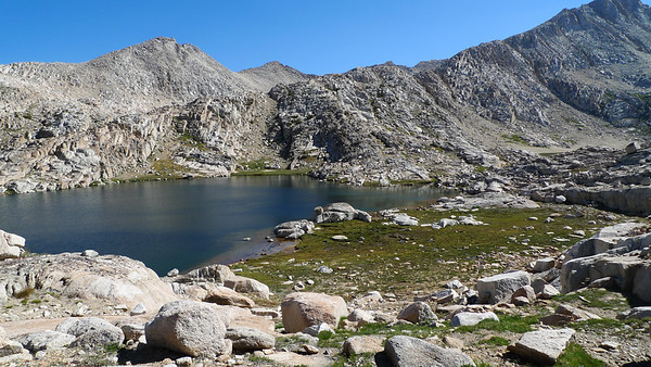 Ursa Lake, We're on our way up to Feather Pass, following the sierra high route for the day.